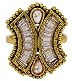 Matra Goldton Traditionelle Adjustable Hochzeit Ring Indian Finger Band Schmuck
