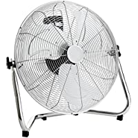 "Oypla Electrical 18"" Chrome 3 Speed Free Standing Gym Fan"