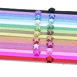 Qinlee Papier Papierstreifen Streifen Set 100 Streifen Farbe Quilling-Papierstreifen Bunt Papierstreifen Papier für Falten Sterne DIY Origami Bastelbedarf Papierstreifen (100 PCS) Zufällige Farbe