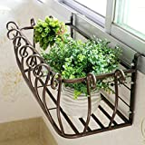 Estante de la flor estilo europeo estante de la maceta colgante de la ventana del...