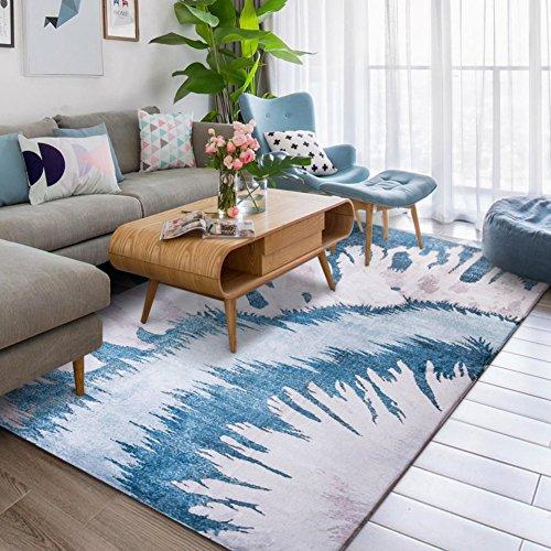 KELE Mode Teppich,Dekorative teppiche,Xiandai Teppich,Einfache,Moderne,Nordisch,Pastorale,Fußmatten Wohnzimmer,Sofa,Coffee Table, Fußmatten-A 63x91inch(160x230cm) (Reinigung-maschinen Teppich Dampf)