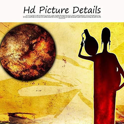 jiushice Olio di Paesaggio Donna Africana Astratta in Oro su Tela Poster e Stampe Immagini murali d'Epoca per Soggiorno 1 60x90cm