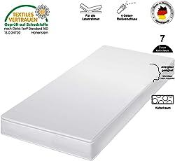HydroCell 7 Zonen Rollmatratze Kaltschaummatratze - Härtegrad 2in1 H2 & H3 - Matratze Made IN Germany