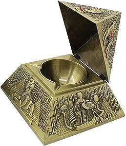Windproof Pyramid Cigar Aschenbecher mit Deckel Besondere Geschenk Bronze