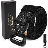 APERIL - Cintura tattica da uomo, in stile militare, regolabile, in nylon resistente, con fibbia in metallo a sgancio rapido,