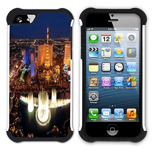 Graphic4You Las Vegas USA United States of America Postkarte Aussicht Hart + Weiche Kratzfeste Hülle Case Schale Tasche Schutzhülle für Apple iPhone SE / 5 / 5S Design #5