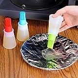 GARDENYEAR 1pc Grill olio bottiglia spazzole strumento di calore resistente al silicone barbecue imBastire olio pennello barbecue cottura Pasticceria olio spazzole colore a caso