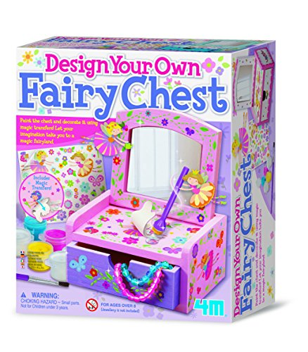 4M - Paint & Make Your Own Fairy Mirror Chest, Juego de...