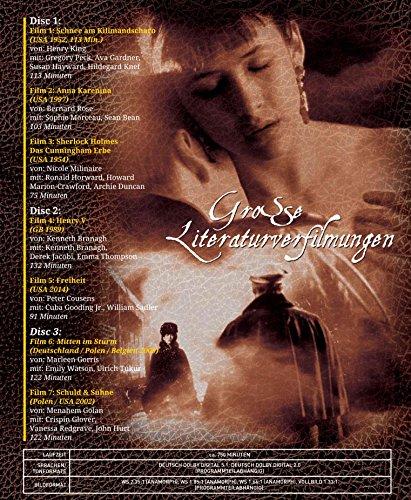 Große Literaturverfilmungen (7 Filme auf 3 DVDs) - 2