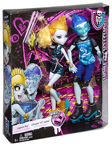 Image of Monster High Lagoona and Gillington Gil Webber Wheel Love Dolls (Blue)