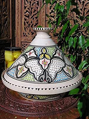 Large Tunisian cooking tagine in black from Maroque