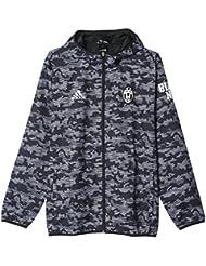 adidas Juventus Windbreaker - Sudadera para hombre, color gris / negro / blanco, talla XL