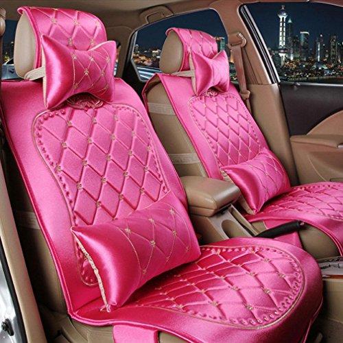 XH Vier Jahreszeiten Stoff Tag Seide Auto Kissen Sitzbezug , Rose Red,rose red