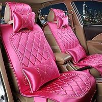 XH Cuatro Estaciones De Tela De Seda De Coche De Amortiguador Seat Cover , Rose Red,rose red