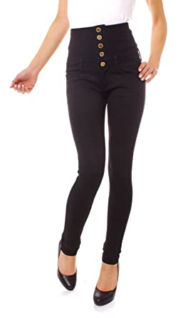 Jeggings schwarz high waist