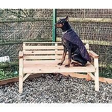 Banco de muebles de jardín de madera maciza. * Super resistente *