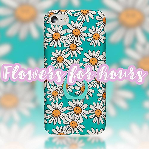 iPhone 8 / 7 Ring Hülle Handyhülle von NICA, Motiv Schutzhülle mit 360-Grad Fingerhalterung, Dünnes Hard-Case mit Ständer Bumper, Slim Back-Cover Etui für Apple i-Phone 7 / 8, Designs:Pastel Triangles Smiling Daisy
