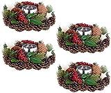 Britesta Weihnacht-Dekos: 4er-Set Weihnachts- & Adventsgesteck, handgefertigt, 23 cm (Weihnachtengesteck)