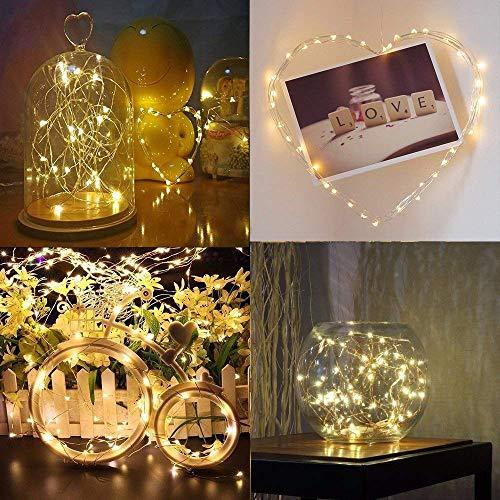 Diolumia-2er Pack LED mirco Lichterkette Glühbirne mit 20 pcs IP44 pvc mit 8 Funktionen Weihnachten Party Innen Außen Beleuchtung Hochzeit Weihnachtsbaum. [Energieklasse A +]