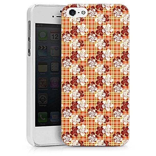 Apple iPhone X Silikon Hülle Case Schutzhülle Blumen Surfen Karomuster Hawaii Hard Case weiß