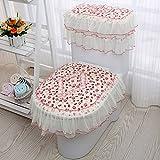 WANG-shunlida coreano di alta qualità pezzo tre toilette velluto tessuto Fodera per cuscino zipper Unione WC WC,E