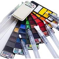 Fuumuui Ensemble de peinture aquarelle 42 couleurs avec ensemble de 6 pinceaux pour stylo aquarelle, pour les débutants…