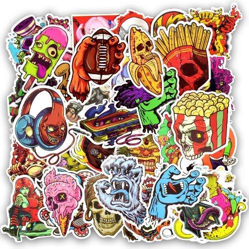 YLGG Horror Punk Sticker Graffiti Dunkles Skelett Sexy wasserdichte Aufkleber für Aufkleber auf Laptop Gepäck Stoßstange Fahrradhelm Auto 100st