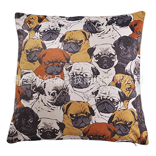 LKKLILY-Home Innendekoration Betten Kissen Kissen Digitaldruck Super Soft Samt Starling Hund auf Set excludingpillow, Myna Dogs, 45 * 45 - Ashley Tröster-sets