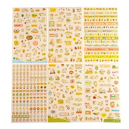 Soledi 6 Pezzi Sticker Adesivi Carini Gattini Decorazione
