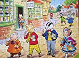 Vintage 1973 Rupert The Bear And Friends 80 Large Piece Jigsaw Puzzle At The Shops Complete In Box By Hestair Puzzles