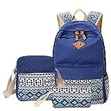 MingTai Backpack Mochilas Escolares Mujer Mochila Escolar Lona Bolsa Casual Para Chicas Bolsa De Hombro Mensajero Billetera Zafiro
