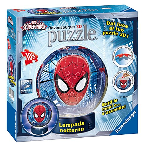 Ravensburger Puzzle Ball 3D Ultimate Spiderman Night-Light (108Pcs) (12256) Preisvergleich