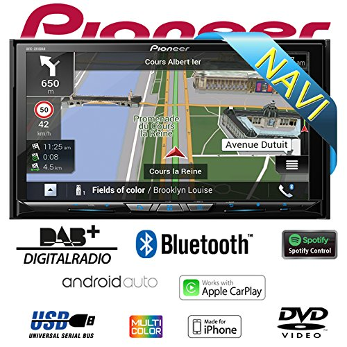 Pioneer AVIC-Z910DAB 17,78 cm (7 Zoll) Touchscreen Display Autoradio Moniceiver (Navigation System Pioneer)