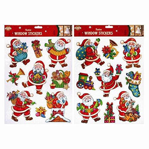 treues z-99936Weihnachten Fenster Aufkleber, Santa - Santa-fenster
