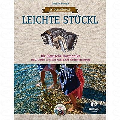 12 brandneue leichte Stueckl - arrangiert für Steirische Handharmonika - Diat. Handharmonika [Noten/Sheetmusic] Komponist : Kumeth Michael