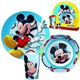 BBS Kinder Frühstück Set   Micky Maus   Mickey Mouse   Melamin Geschirr Set