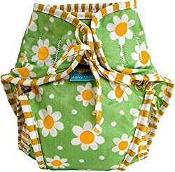 Reusable Swim Diaper | Green Daisies Size, Small