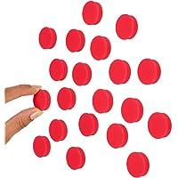 Scribble aimants rouge de 25 mm pour tableau blanc ou réfrigérateur. Paquet de 20