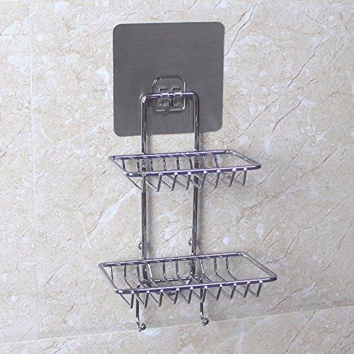 DSAAA Acciaio Inossidabile Lucidato Wall-Mounted Ventosa Soap Box Hotel Appartamento