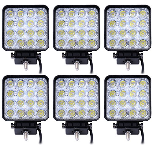 Leetop 6 Luces de Trabajo LED 48W 3800 lm 6000K 67IP, Luces...