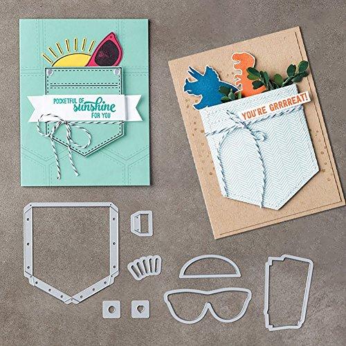 Huhuswwbin Stanzformen, Metall, für Grußkarten, Sonnenbrillen, Schablone für DIY Scrapbook-Album, silberfarben