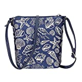 Sea Shell Sling Bag by Signare   Ladies Fashion Unusual Beach Starfish Side Crossbody Shoulder Handbag   20x23x6 cm   (SLING-SHELL)
