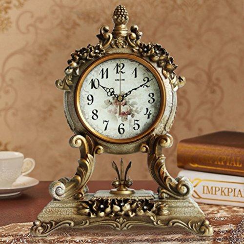 Edge to Tischuhren Antike Europäische Uhr Ruhig Wohnzimmer Uhr Nacht Uhr Kreative Schaukel Uhr Antike Uhr (Farbe : B)
