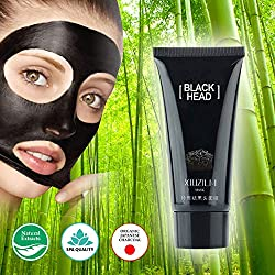 Black Charcoal Peel Off Face Mask / Japanese Organic Bamboo / Blackhead Remover / Detoxifying Anti Wrinkle Mask