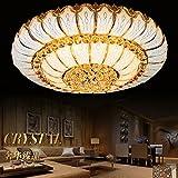 chjk briht el cristal dorado plafón kreisförmigen Continental Crystal lámpara colgante Leuchten