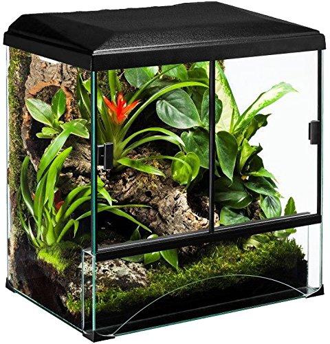 Diversa terraset Forest 60* 40* 55cm terrario de Cristal para Reptiles Anfibios Tortugas Teca Unidades con Accesorios