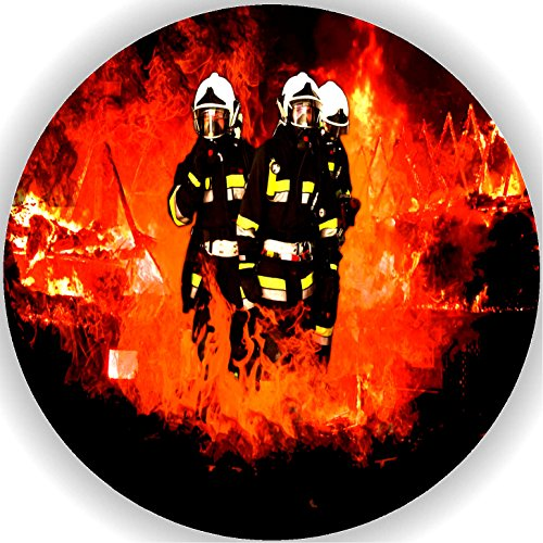 FONDANT Tortenaufleger Tortendeko Geburtstag Feuerwehr T1