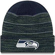 "Seattle Seahawks New Era 2017 NFL Sideline ""Cold Weather TD"" Knit Hat Hut - Navy"