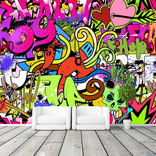 Graffiti Boys Urban Art Foto benutzerdefinierte Wall Street Kultur Wand Kunst Schlafzimmer Flur Kid Room Decor 350x256cm ()