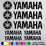 7 PEGATINAS LOGO MOTO YAMAHA (3 Logos y letras YAMAHA de 16 cm x 3,8 cm Y 4 Letras YAMAHA de 7 cm x 1,8 cm ) VINILO ADHESIVO VINIL STICKER DECALS AUFKLEBER